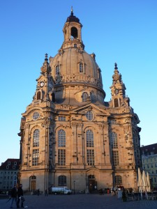 Frauenkirche at Sunset. Dresden, Germany