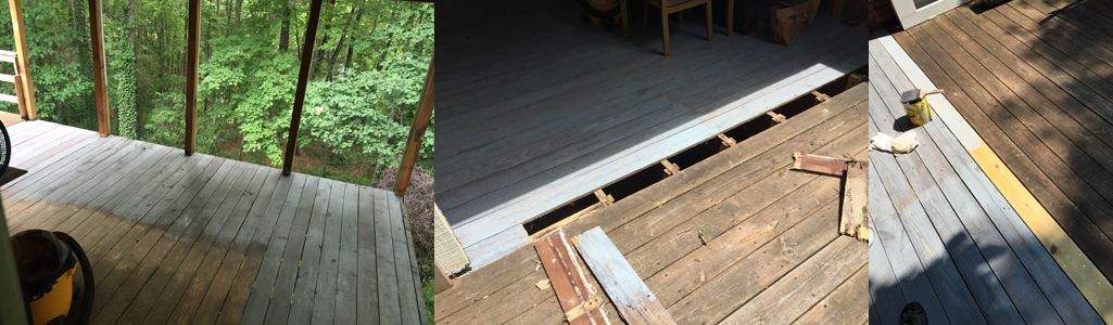 Staining and Replacing Deck Boards