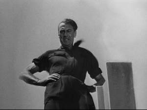 Garry Cooper as Howard Roark in the 1949 film adaptation of Ayn Rand's book, The Fountainhead