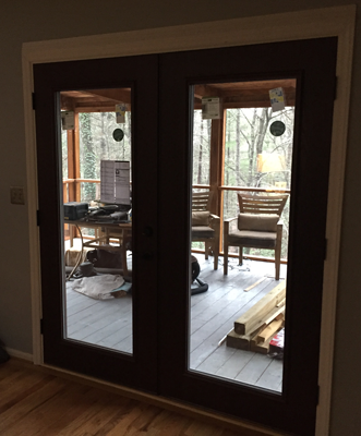 New French Doors offer a ton more insulation that the old ones and let in a lot of light.