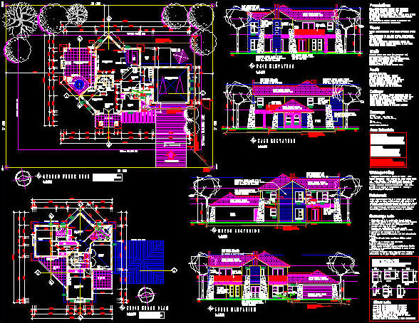 Modern CADD Drawing - via www.cad-architect.net