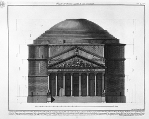 Pantheon Elevation Drawing via - http://blog.visual.ly