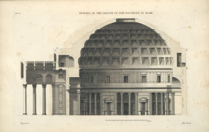 Pantheon Section Drawing - via http://blog.visual.ly