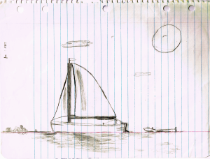 Sail Boat drawing circa 1983