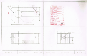 Shifter Block drawing drafted 1988