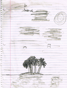Tropical Island drawing circa 1983