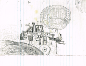 Four Wheel Drive drawing circa 1982
