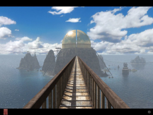 A scene from Riven: The Sequal to Myst. via www.mobygames.com