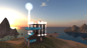 A Lighthouse Pavilion that I built in Second Life.