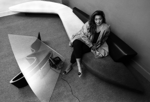 Zaha Hadid in her London office, 1985. Photo Credit: Christopher Pillitz/Getty Images